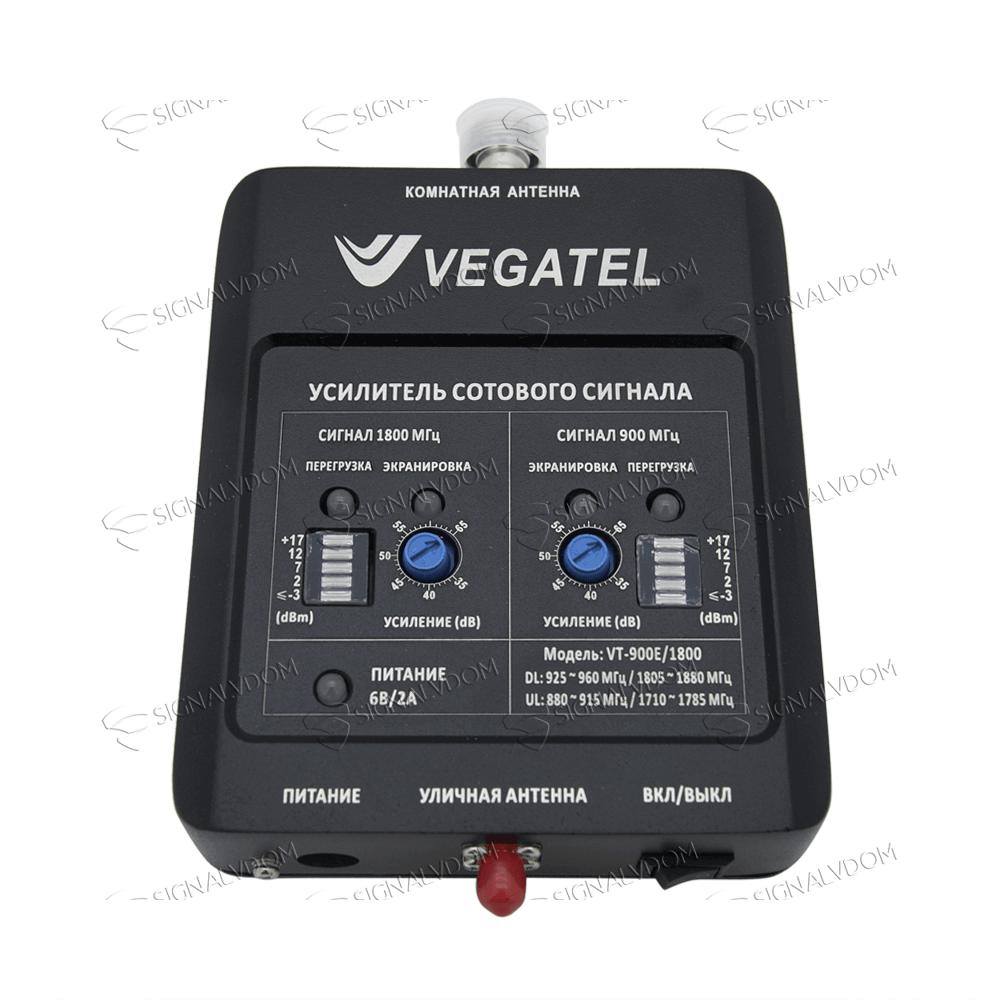 Усилитель сигнала VEGATEL VT-900E/1800 (LED) комплект - 2