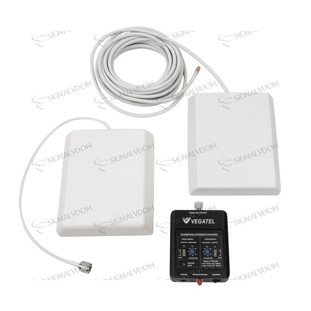 Усилитель сигнала VEGATEL VT-900E/1800 (LED) комплект