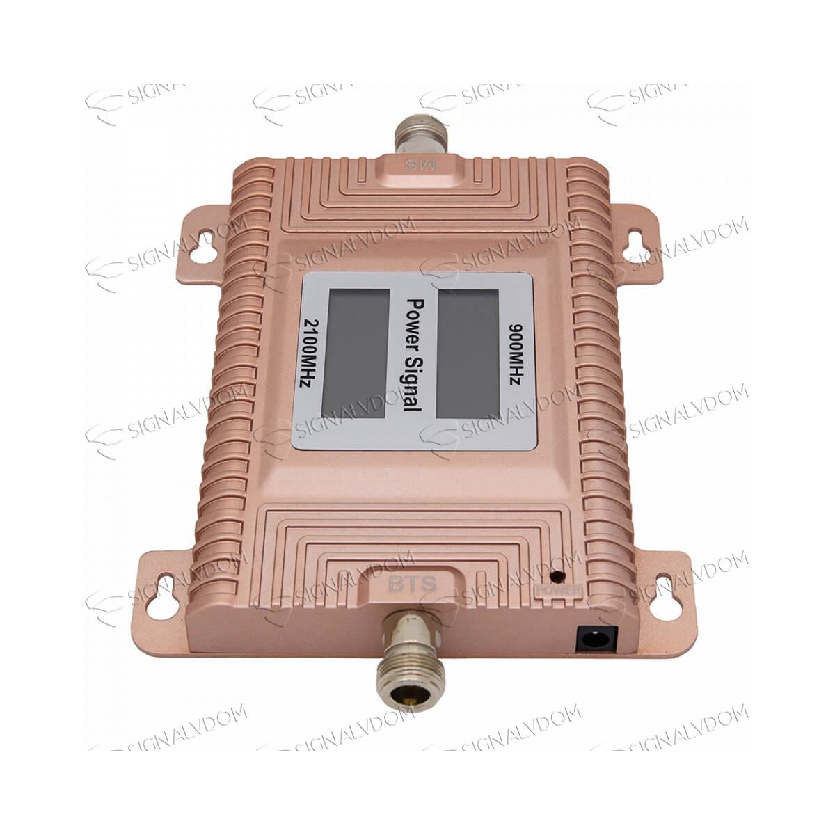 Усилитель сигнала связи Power Signal Standard 900/2100 MHz (для 2G, 3G) 70 dBi, кабель 15 м., комплект - 5